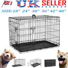 Dog Cage S M L XL XXL Pet Puppy Crate Carrier Home Foldable Training Kennel UK