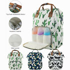 Внешний вид - Diaper Diaper Bag Backpack Waterproof Maternity Mom Baby Nappy Flower Print Bag
