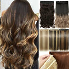 Big Sale One Piece REAL THICK Clip in Hair Extensions Half Full Long as Human US