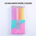 MARCO 24 Pastel Color Pencil Set, Neon Colored Pencils for Adults, Kids, Artists