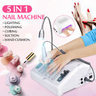 5 In 1 Nail LED UV Nail Lamp Gel Dryer Dust Collector Milling Polish