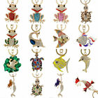 Crystal Cute Keychains Rhinestone Keyring Charm Pendant Purse Bag car Key Chain