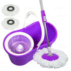 Купить 360В° Rotating Head Easy Spin Dry Floor Mop Bucket + 2x Head Microfiber Spinning