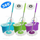 Kyпить 360° Rotating Head Easy Spin dry Floor Mop Bucket + 2x Head Microfiber Spinning на еВаy.соm