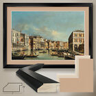 """44W""""x32H"""": THE GRAND CANAL by FRANCESCO TIRONI - DOUBLE MATTE, GLASS and FRAME"""