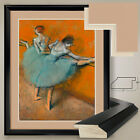 "32W""x38H"": DANCERS AT THE BARRE by EDGAR DEGAS - DOUBLE MATTE, GLASS and FRAME"