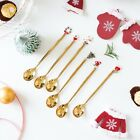 2PCS Christmas Spoon Xmas Party Table Ornaments Coffee Home Navidad Gift Decor