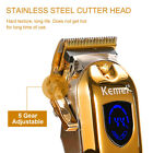 Kemei Professional Electric Cordless Trimmer Hair Clipper Cutter Rechargeable