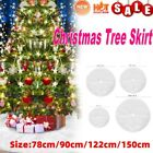 Long Snow Plush Christmas Tree Skirt Base Floor Mat Cover Xmas Party Decor New