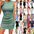 Womens Sexy Stretchy Bodycon Cocktail Mini Dress Clubwear Party Short Dresses