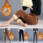 .Womens Fleece Lined Sweatpants Winter Thermal Thicken Warm Pants Long Trousers.