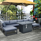 Outdoor Patio Sofa Set Aluminum Alloy Sectional Furniture Couch W/ Cushion