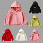 Newborn Toddler Baby Boy Girl Hooded Letter Solid Thick Coat Sweatshirt Pullover