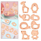 Food Grade Baby Teething Toys Cute Bear Animal Shape Pendant Puzzle Chew Toy