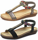 New Cipriata Gemma Jewelled Womens Halter Back Sandals ALL SIZES AND COLOURS