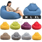 100*120CM Adult Bean Bag Cover Kids Chair Sofa Indoor Home Lazy Lounger