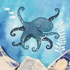 Octopus - Underwater Painting - Original Watercolour with Beach Pottery (No. 134