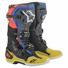 Alpinestars Tech 10 Boots Mx - Black Yellow Blue Red Fluo All...