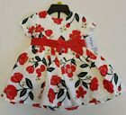 """Carter's Baby Girls 2 Pc Dress & Bloomers """"Dress Me Up"""" Red Floral 6M,9M,12M,18M"""