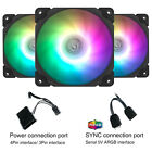 3-Pack Vetroo120mm ARGB LED Computer PC Case Cooler Cooling Fan High-Performance