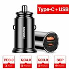 For iPhone 12 12 Pro Max Car Charger Quick Charge 3.0 QC3.0 QC SCP 5A Type C 30W