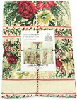 April Cornell Floral Holiday Tablecloth Merry Antique 100% Cotton 70 Round