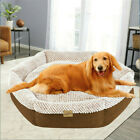 All Sizes Large Orthopedic Dog Bed Lounger Donut Pillow Pet Bed Removable Cover