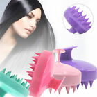 Silicone Shampoo Scalp Shower Body Washing Hair Massage Massager Brush Comb EN