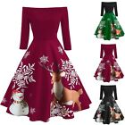Winter Women Christmas Party Dress Cold Shoulder Sleeve Dress Girl Dress Bodycon