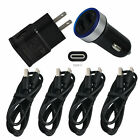 Charging For ZTE XON 20 11 10 9 Pro M 7S USB Wall Car Charger Plug Type-C Cable