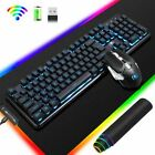 Rechargeable Wireless keyboard mouse combo LED backlit 2400DPI for Laptop PC Mac