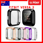 Soft Tpu Silicone Shell Full Case Cover Screen Protector For Fitbit Versa 2