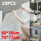 10X 3D Tile Brick Wall Sticker Self-adhesive Foam Wallpaper Panel Waterproof UK