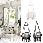 Hanging Hammock Rope Swing Chair Macrame Soft Outdoor Indoor Patio Garden Seat