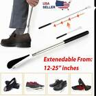 "Shoe Horn Extra Long Handle Stainless Steel 25"" Metal Shoes Remover Extendable"