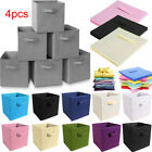 Collapsible Fabric Storage Boxes Foldable Canvas Cube Bins Closet Home Organizer