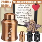 Cremation Urns Ashes Memorial Pet Cat Dog Steel Secure Threaded Lid   US US