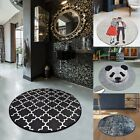 Non-slip Circle Rugs Living Room 100cm Round Mat Washable Bath-kitchen Carpet