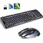 Rechargeable Keyboard Mouse,Backlit Gaming Combo,Wireless 4800 mAh for Laptop Pc