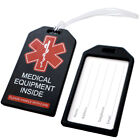 "Внешний вид - 2 Pack - Medical Alert ID Luggage Tags with 6"" Loops for Carry-On Medical Device"