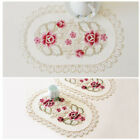1xDining Table Place Mat Vintage Embroidered Lace Fabric Place Mat Floral Decor