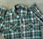 Volcom Womens XL Classic Fit Flannel Plaid Checkered Button Down Shirt