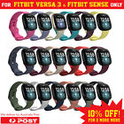 For Fitbit Versa 3/sense Watch Band Silicone Replacement Strap Sports Wristband