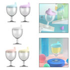 Wine Glass Shaped Milk Cup Baby Water Goblet Bottle Wine Glass Leakproof
