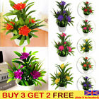 Artificial Fake False Plant Flowers Potted Floral In Pot Garden Hotel Home Decor