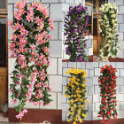Vine Hanging Flowers Artificial Green Plants Lily Brackets Home Decor Items