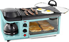 Retro 3-in-1 Electric Breakfast Station, Coffeemaker, Griddle, Toaster Oven NEW