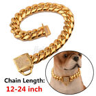 Stainless Steel Curb Chain Pet Dog Puppy Choker Collar Rottweiler Pit Bull Home