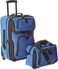 U.S. Traveler Rio Rugged Fabric Expandable Carry-on Luggage Set, Teal, One Size
