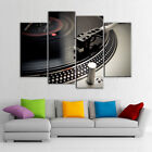 DJ Music Instrument Turntable 4 Panel Canvas Print Wall Art Poster Home Decor